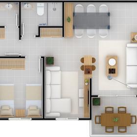 Planta 02 Dormitórios
