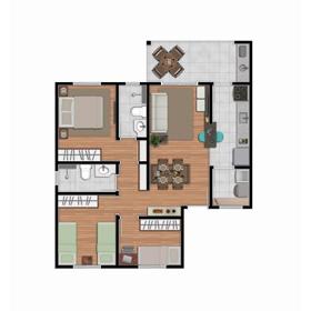 Planta 03 Dormitórios